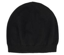 Woll-Feinstrickmütze  // Basic Wool Black