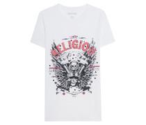 Baumwoll-T-Shirt mit Print  // Motorblock White