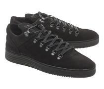 Flache Leder-Sneakers  // Mountain Cut Flush Black