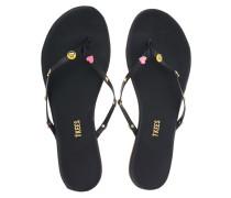 Flache Leder-Flip-Flops