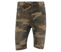 Jeans-Shorts mit Camouflage-Musterung
