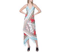Seiden-Kleid mit all-over Print