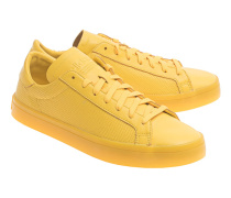 Flache Leder-Sneakers  // Court Vantage Adicolor Yellow