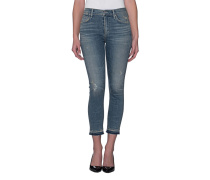Destroyed Skinny-Jeans  // Rocket Crop High Rise Miramar