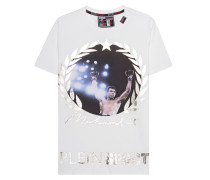 Baumwoll-T-Shirt mit Print  // Big White