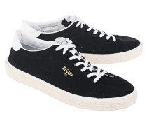 Flache Veloursleder-Sneaker  // Tennis Black Suede