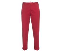 Bügelfaltenhose  // Hockney Red