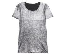 T-Shirt im Glitzer-Finish  // Nicola Silver