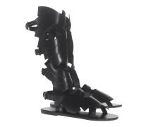Hohe Leder-Sandalen  // X Carven Banana High Black