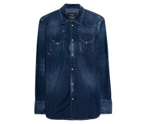 Schmales Jeanshemd  // Denim Chest Pockets Blue