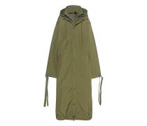 Langer Oversize-Mantel  // Jacket W Harness Olive Branch