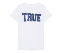 Baumwoll-T-Shirt mit Print  // Crew Shirt True White