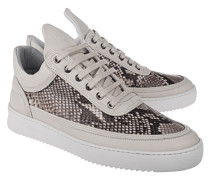 Low-top Python Sneaker  // Low Top Ripple Python Grey