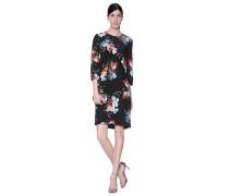 Seidenkleid mit floralem Druck  // Emma Rose Bouq Black