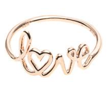 14 Karat Roségold-Ring  // Love Rose Gold