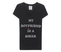 Jersey-Shirt mit Print  // Boyfriend Tee Caviar