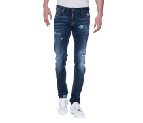 Destroyed Slim-Fit-Jeans  // Slim Jean Blue
