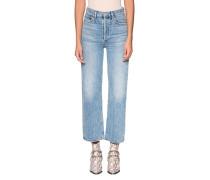 Wide-Leg Jeans im Acid-Wash Style
