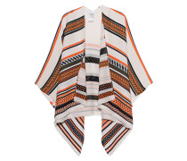 Woll-Mix-Poncho  // Svenja Multistripes Light