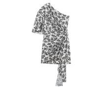 One-Shoulder Kleid mit Drapierung