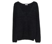 Alpaka-Mix Pullover mit tiefem V-Ausschnitt  // Alpaca Ripped Black