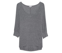 Lockeres Stretch-Top  // Drapey Lux Dolman Sleeve Steel