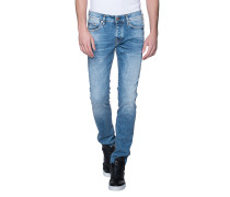 Washed out slim jeans