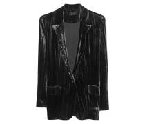 Lässiger Samt Blazer  // Blazer Velvet Black