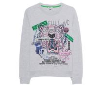 Besticktes Baumwoll-Sweatshirt  // Tiger Flyer Light Grey