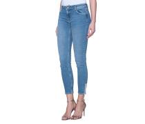 Baumwoll-Mix-Jeans  // Nicole Zip Blue Worth