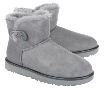 Lammfell Stiefel  // Mini Bailey Button II Grey