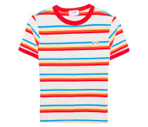 Baumwoll-T-Shirt  // Surf Stripe Multicolor