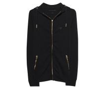 Zipper-Hoodie  // Hooded Zip All Metal Black