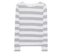 Stripe Sweater Grey Melange