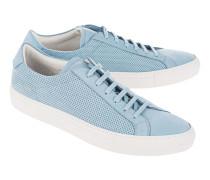 Flache Nubukleder-Sneakers  // Achilles Summer Edition Sky Blue