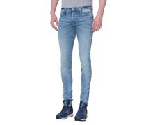 Ausgewaschene Slim-Fit-Jeans  // Tony Desertwell Blue