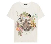 Bedrucktes Leinen-T-Shirt