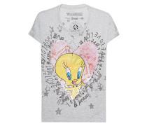 T-Shirt mit Pailletten-Verzierung