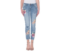 Straight Leg Jeans mit Prints  // Freebirds Orchid