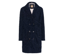 Fake-Fur-Mantel  // Curly Coat Night Blue