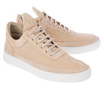Flache Veloursleder-Sneakers