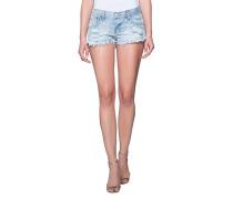 Denim-Shorts mit Farbklecksen  // Artiste Bonita Blue