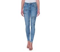 Bemalte Jeans  // Patti Sketched Denim Blue