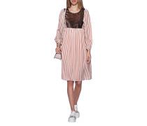 Gestreiftes Kleid mit Pailletten-Detail