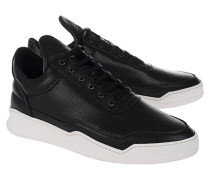Perforierte Leder-Sneaker  // Low Top Ghost Black