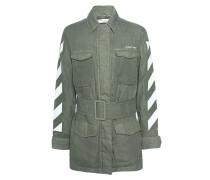 Leinen-Jacke mit Print  // Diag Field Jkt Olive