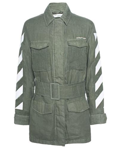 Leinen-Jacke mit Print