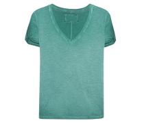 T-Shirt mit tiefem V-Ausschnitt  // Deep V-Neck Cold Dyed Ultra Marine Green