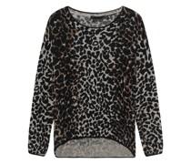 Woll-Kaschmir-Mix Pullover im Leo-Design