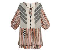 Baumwoll-Kleid mit Ethno-Musterung